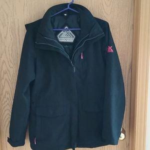 Zeroxposur winter jacket with detachable liner